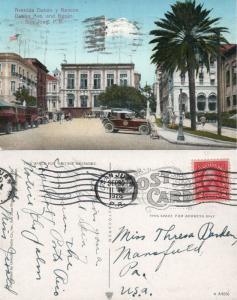 SAN JUAN PUERTO RICO DABAN AVENUE ANTIQUE 1926 POSTCARD
