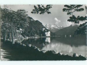 old rppc CHILLON CASTLE Veytaux - Vaud Switzerland i1843
