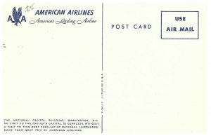 The National Capitol Building, Washington, D.C. American Airlines Postcard