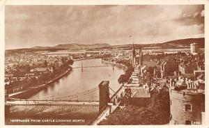 Inverness from Castle Looking North Bridge River Ponts Chateau 1944