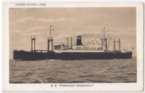 United States Lines - SS President Roosevelt