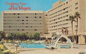 LAS VEGAS NV - GREETINGS from 1950s era / RIVIERA HOTEL - 2015 DEMOLISHED