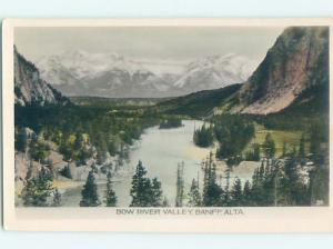 old rppc BOW RIVER VALLEY Banff Alberta AB Canada HM1954