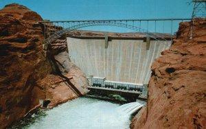 Page, Arizona, AZ, Glen Canyon Dam, Unused Chrome Vintage Postcard g5704