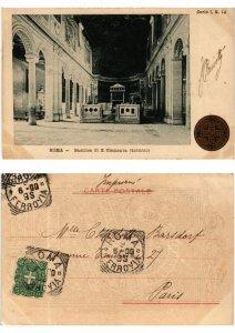 CPA ROMA Basilica di S. Clemente-Interno. ITALY (551203)