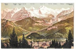 Switzerland Interlaken Bernese Swiss Alps Mountains Postcard