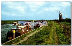 Modern Postcard The River Bure at Stracey Arms Norfolk Broads