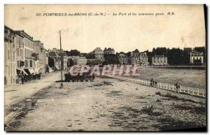 Old Postcard Portrieux les Bains Port and new platforms