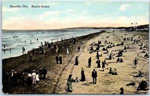 Seaside, Oregon Postcard Bathing Beach Scene PNC c1910s Unused