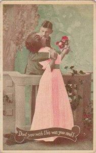 Romantic Couple Kissing 1916