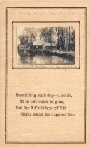 G24/ Scottville Michigan RPPC Postcard c1910 P.M. Boat Club Cottages