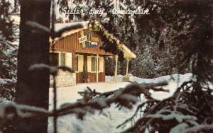 SISTER BAY, WI Wisconsin HELM'S 4 SEASONS MOTEL~Snowy  DOOR COUNTY 1968 Postcard