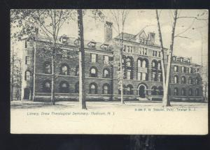 MADISON NEW JERSEY DREW THEOLOGICAL SEMINARY VINTAGE POSTCARD NJ