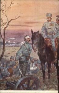 Military Wounded Soldiers Franz Joseph & Kaiser Wilhelm Propaganda? WWI