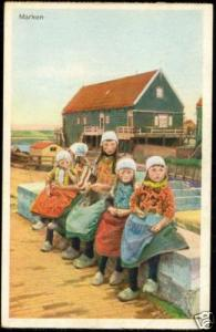 netherlands, MARKEN, Children in Costumes (1930s)