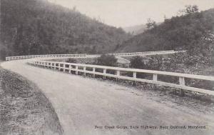Maryland Oakland Bear Creek Gorge State Highway Albertype