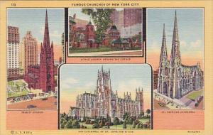Famous Churches Of New York City New York 1950