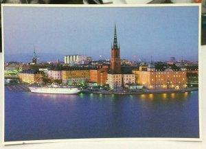 Sweden Stockholm Sommarnatten Sanker sig over Riddarholmen - unposted