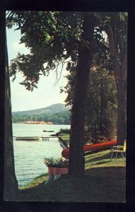 Jackson, New York/NY Postcard, Hedges Lake, Rowboat At Dock