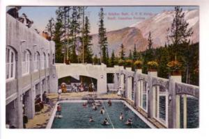 People in Sulphur Pool Bath, Hotel  Banff, Alberta, Coast Publishing Co, Made...