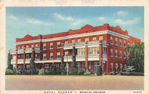 C68/ Brinkley Arkansas AR Postcard 1937 Hotel Rusher Linen Coffee Shop Dining