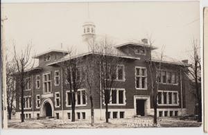 Ohio Real Photo RPPC Postcard pre1918 WAUSEON New High School Building