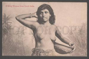 103104 Semi-nude KLING Woman from South India Vintage PC