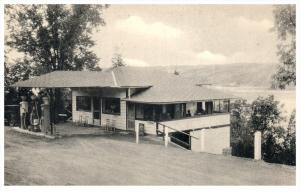9428 NY Watkins Glen  Hector Falls Cabins, Gas Station,