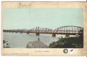 Missouri Pacific Railroad Bridge Pre 1907 Undivided Back Postcard Vintage Card