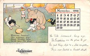Artist Gustave Verbeek Bear postal used unknown tear bottom edge, corner wear