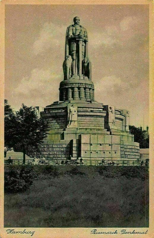 Hamburg Bismarck Denkmal Monument Postcard