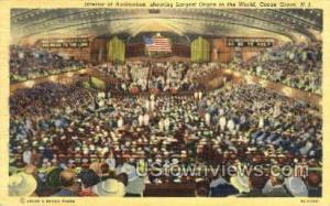 Interior Of Auditorium Ocean Grove NJ 1947
