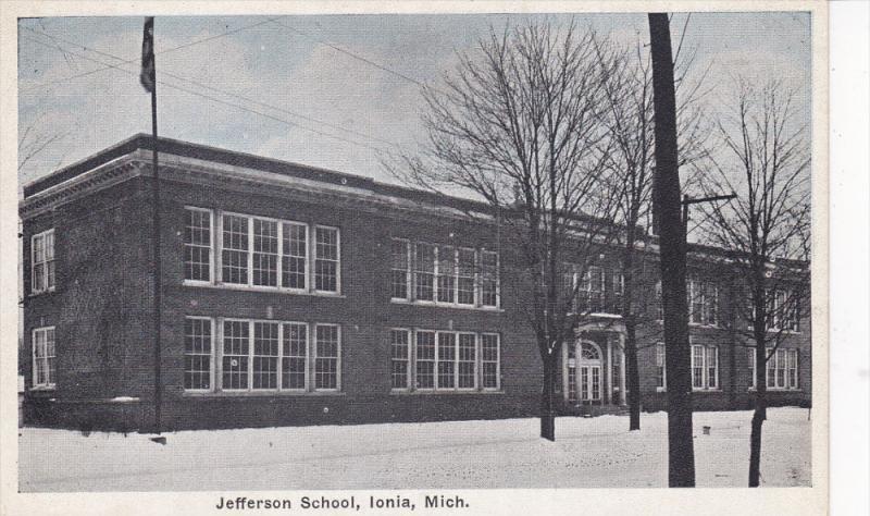 IONIA, Michigan, 1900-1910's; Jefferson School