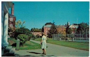 Postcard Keene State College Campus Huntress & Fiske Halls, Keene, New Hampshire