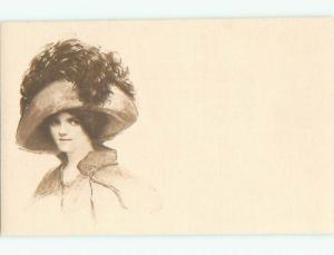 Divided-Back PRETTY WOMAN Risque Interest Postcard AA7963