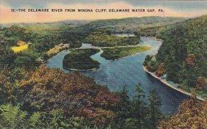 The Delaware River From Winona Cliff Delaware Water Gap Pennsylvania