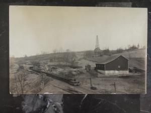 Mint Canada RPPC Postcard Earling Mining and Oil Coal Box Cars Canada