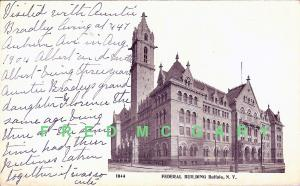 1904 Buffalo NY Postcard: Federal Building - Hard to Find