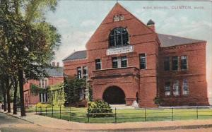 High School Clinton Massachusetts 1908