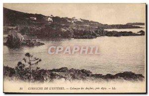 Old Postcard Corniche Esterel cove near the English Agay