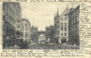 Munchen Germany, Deutschland Postcard Karlsthor  Karlsthor