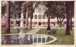 1915 THE MAPLEWOOD ENTRANCE, PITTSFIELD, MASS. Phostint' Detroit Publishing Co.