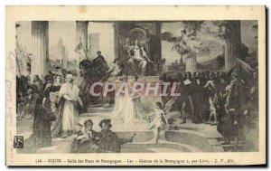 Postcard Old Hall Dijon Bourgogne The Burgundy States glories Levy