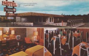 Motel SENATEUR , Mont-Lauriet , Quebec, Canada , 1967