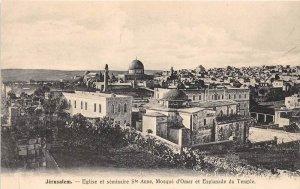 Israel Jerusalem  Aerial View   St.Anne Church   Mosque d'Omar Temple Es...