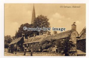 tq2549 - Derbyshire - Ivy covered Cottages and Gardens in Bakewell - Postcard