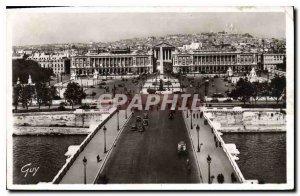 Old Postcard Paris and New Wonders Bridge and Place de la Concorde