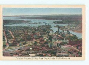 1930's RIVER SCENE Ottawa Ontario ON AE6916