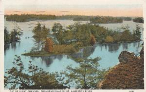 Out of Sight Channel St Lawrence River Thousand Islands New York - pm 1929 - WB