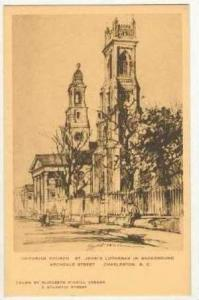 Unitarian Church & St. John's on Archdale St.,Charleston,SC / South Carolina ...